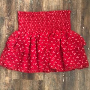 Little red mini skirt, EUC